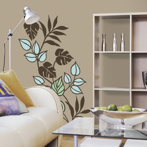 tropicana flower peel amp stick wall mural applique ebay wall mural gran via in madrid peel and stick