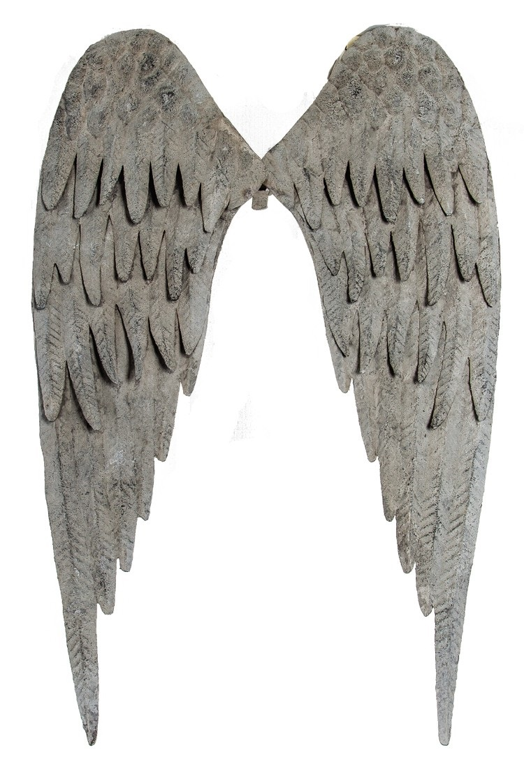 Metal angel wings distressed vintage wall decor shabby chic for Angel wings wall decoration