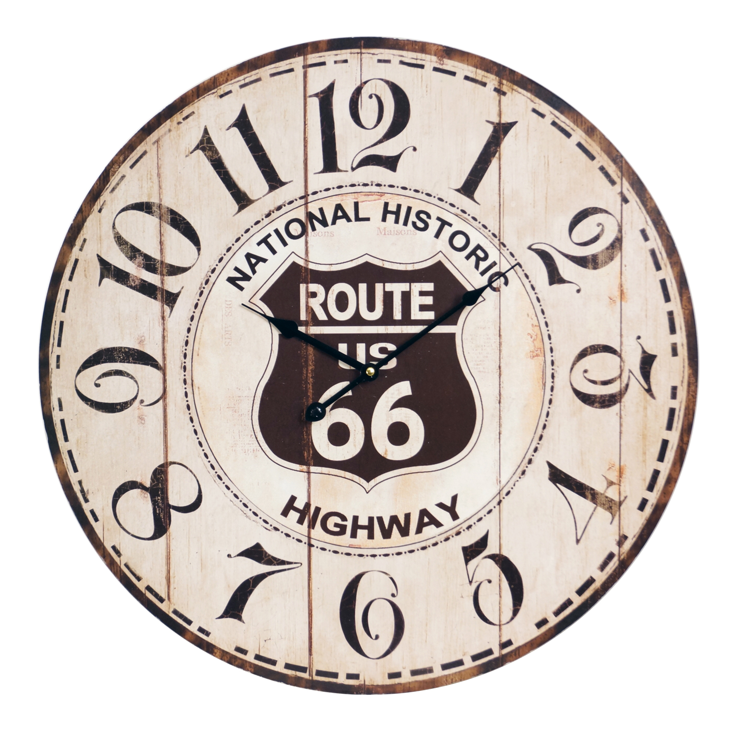 U S Route 66 Wall Clock 23 Country Rustic Ebay