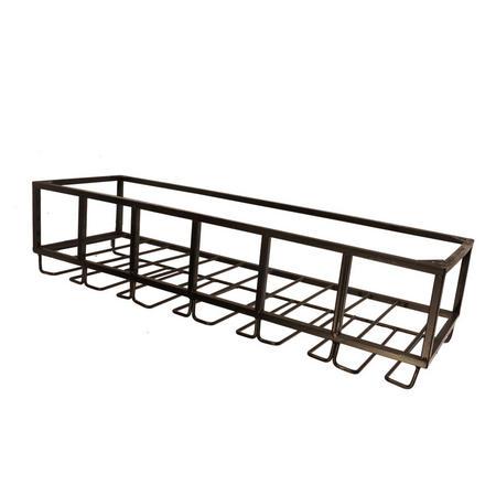 vintage style under cabinet metal wine bottle 12 glass holder rack limited qty. Black Bedroom Furniture Sets. Home Design Ideas