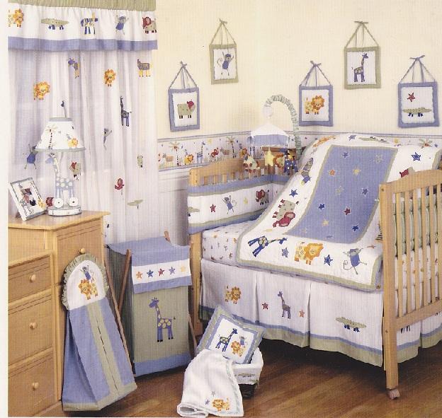 KIDSLINE Kenya Safari Jungle Animals Baby Nursery Crib Bedding Set 12